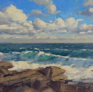 Alsion Hill, Rocks, Surf, Sky