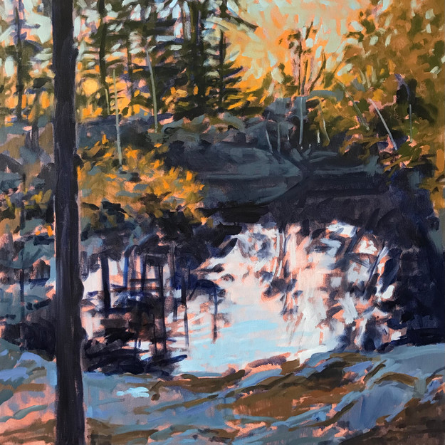 Quarry Reflections 20. Sunset Gold