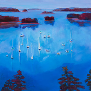 "Freeport Sailboats 30"" x 30"" $900"