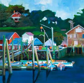 """South Freeport Dock 18"""" x 18"""" $600 - 36"""" x 36"""" $1200"""
