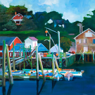 "South Freeport Dock 18"" x 18"" $600 - 36"" x 36"" $1200"