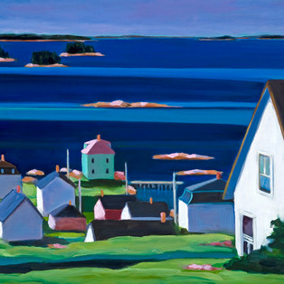 "Up Early Stonington 16"" x 20"" $600"