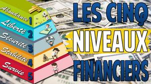 Les cinq niveaux de la Liberté Financière | Dans quel niveau te trouves-tu ?