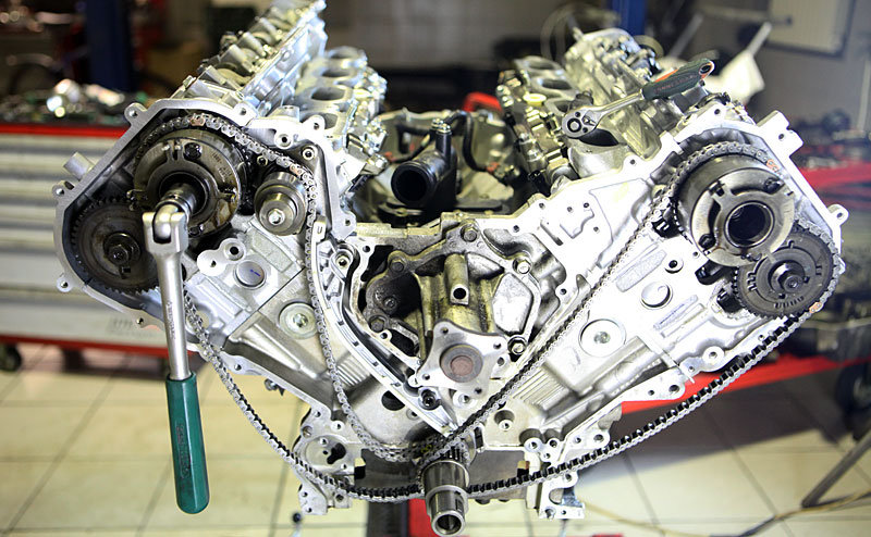 Замена цепи или ГРМ на двигателе
