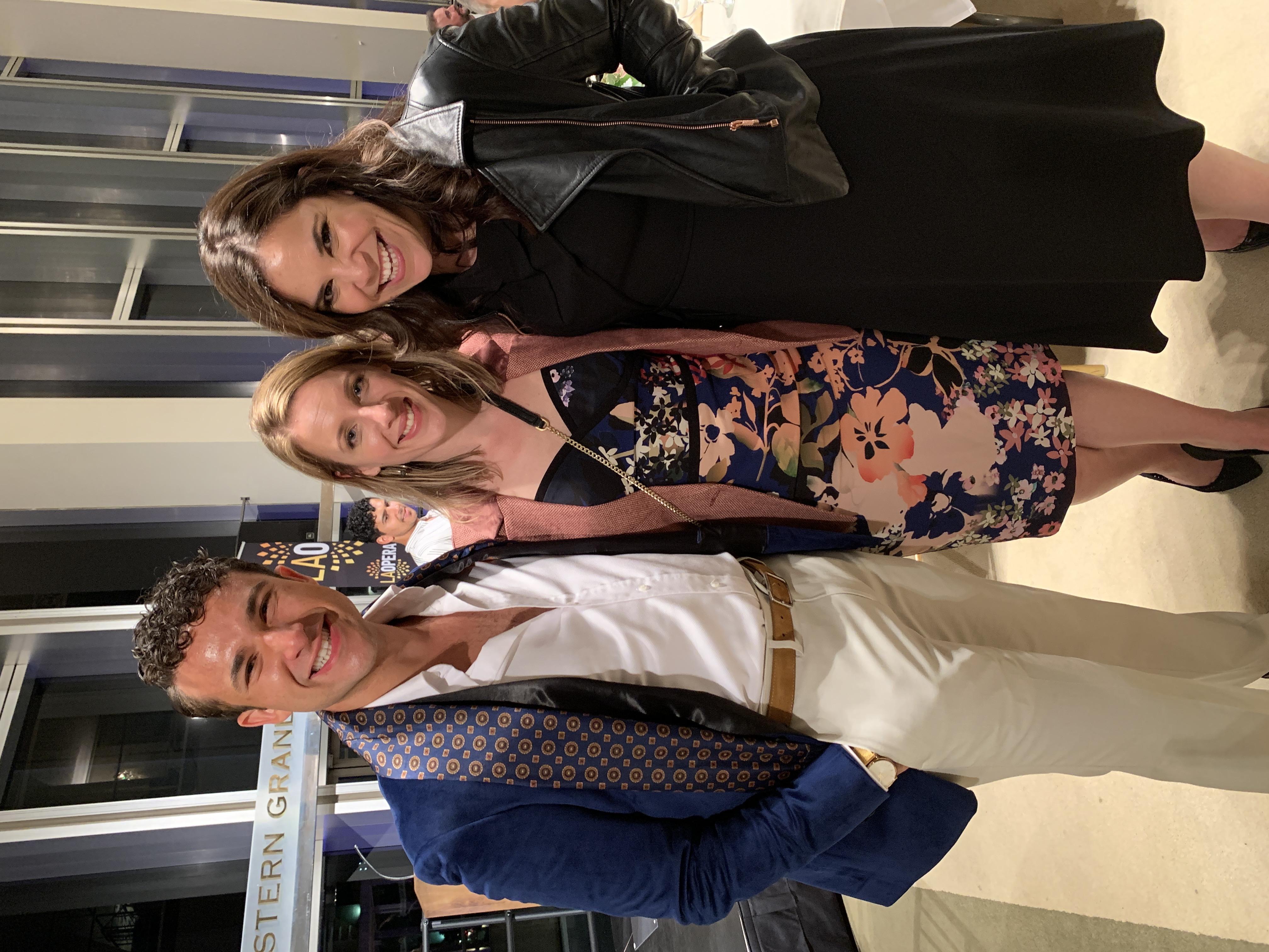 Jessie Mueller, Lindsay Mendez & Danny Becker at LA Oprah Opening Night