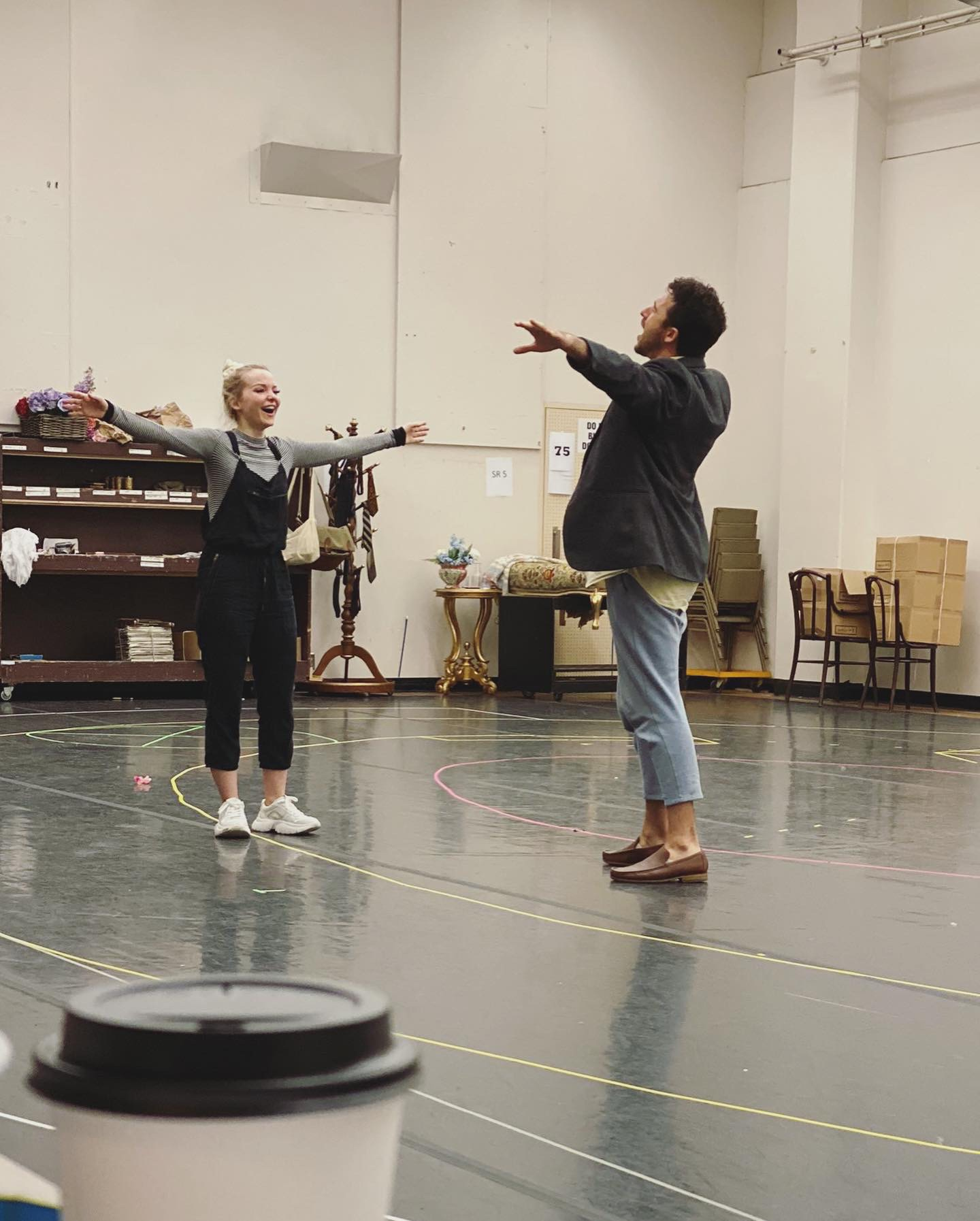 Dove Cameron & Danny Becker in Rehearsals