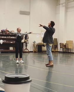 Dove Cameron & Danny Becker in Rehearsals