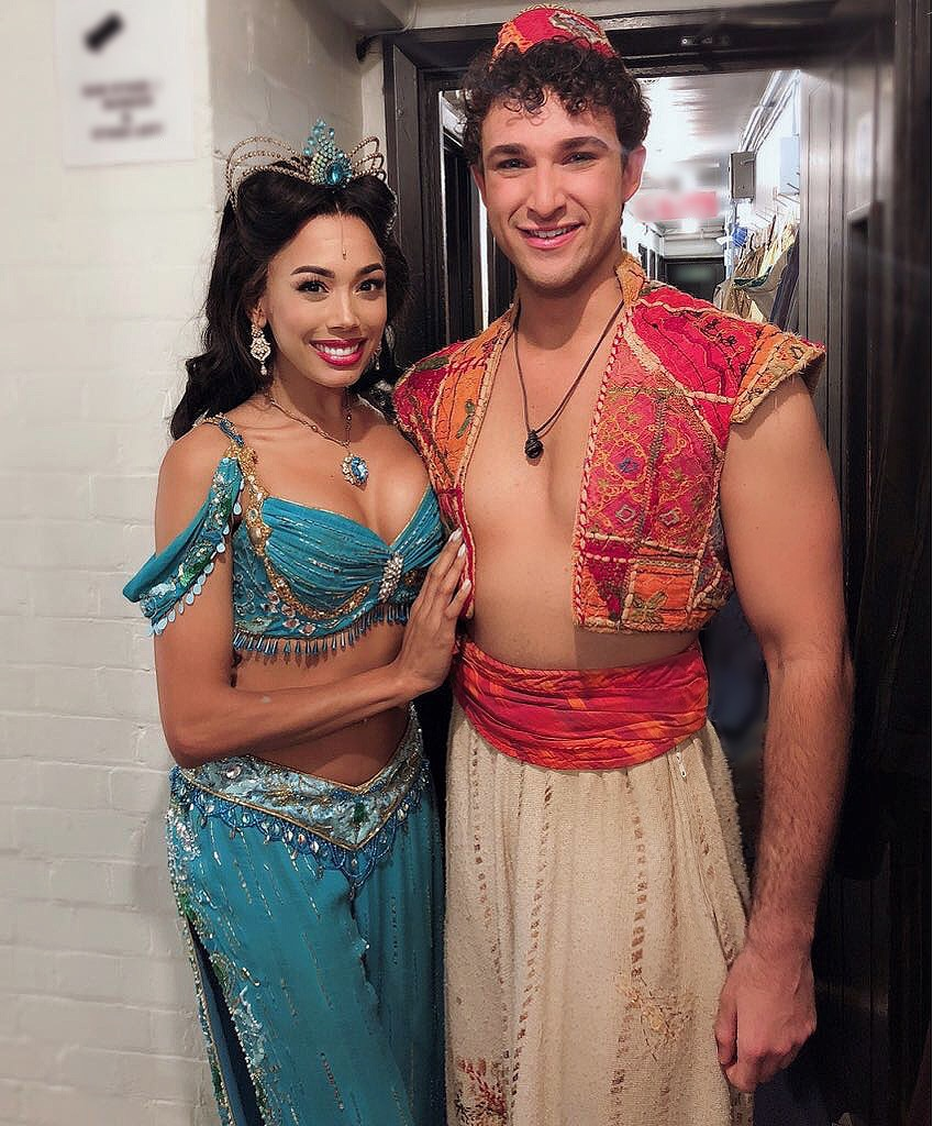 Jade Ewen & Danny Becker at Aladdin West End