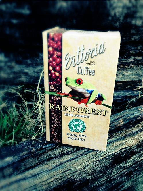 Vittoria COFFEE 200g Rainforest 100% Arabica