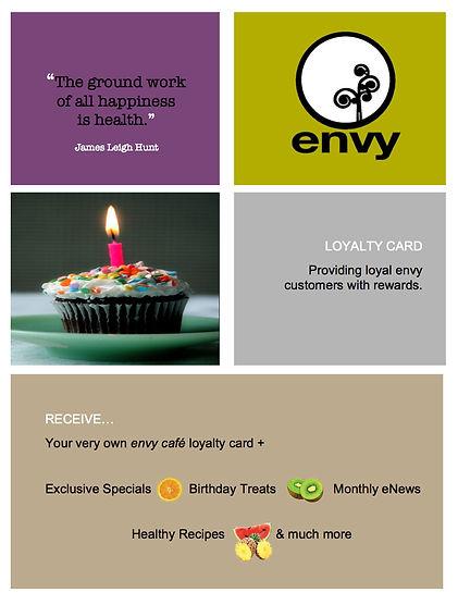 Cafe Envy Sunshine Coast Loyalty Card