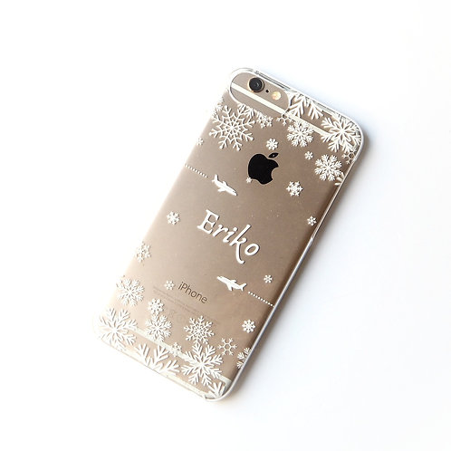 Snowflakes | Clear Phone Case
