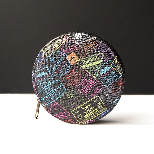 Passport Stamps   Coin Purse