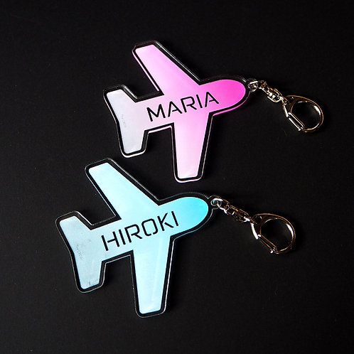 Customized Name Airplane Bag Tag