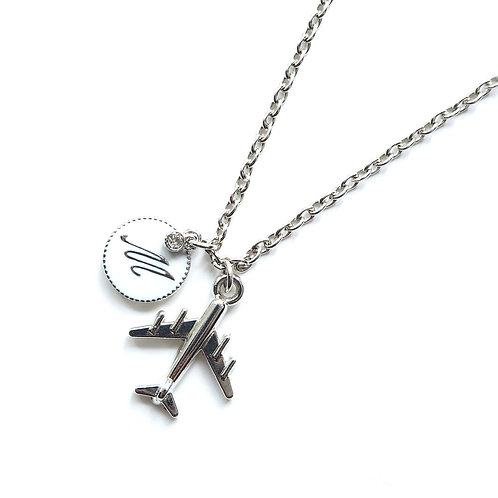 Customized Airplane Necklace | Silver