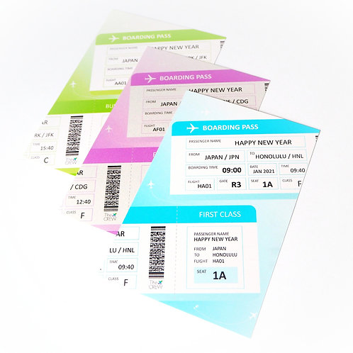 Boarding Pass | Customized Name Post Card