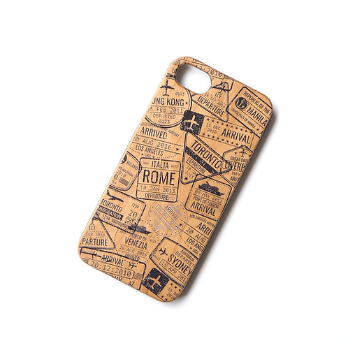 Passport Stamps | Wood Phone Case