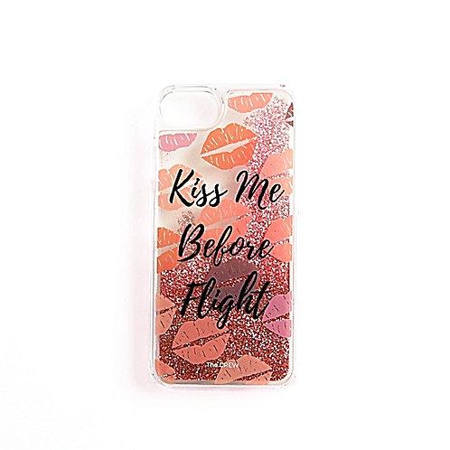 Kiss Me Before Flight | Glitter Phone Case