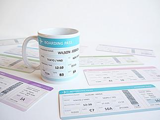 "New Item ""Boarding Pass Mug"""