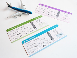 Customised Boarding Pass Gift Ticket