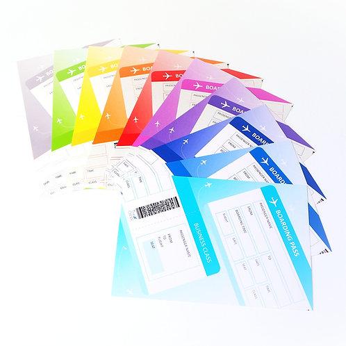 Boarding Pass | Message Card Set