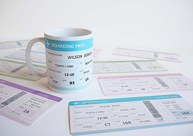 Boarding Pass Mug