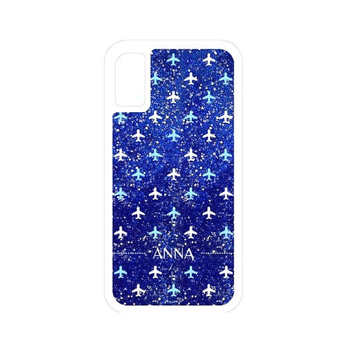 Planes | Customized Name Glitter Case