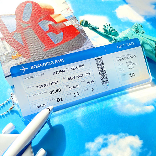Boarding Pass | Customized Name Tag