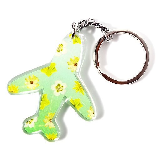 Green Flowers Keychain