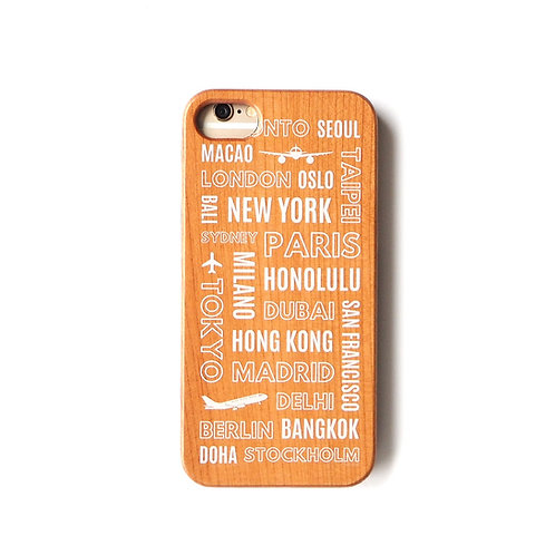 Travel Destination | Wood Phone Case