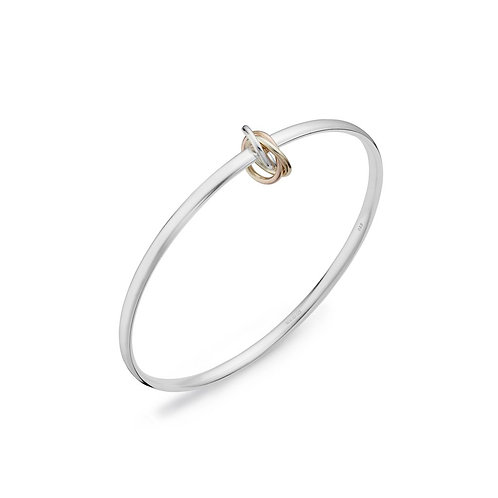 Gold Twisted Knot Bangle