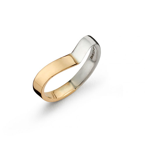 Two-Tone Wishbone Ring