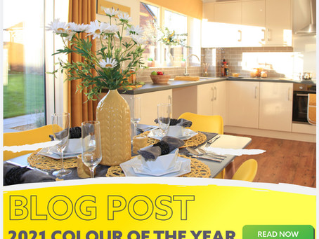 2021 Colour Of The Year: Illuminating Yellow and Cool Grey