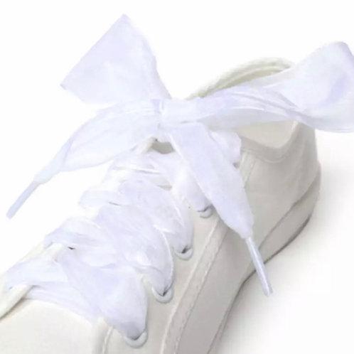 La petite surprise Couture Chiffon Schnürsenkel Weiß