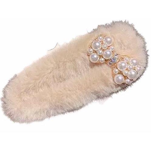 La petite surprise Couture Fell Haarspange Beige