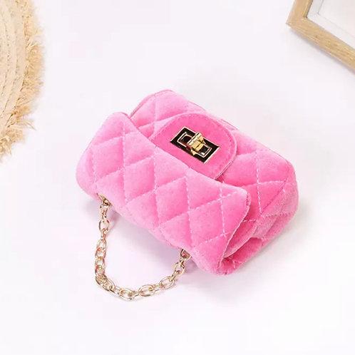 La petite surprise Couture Samt Täschchen Pink