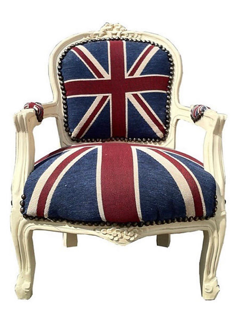 La petite surprise Couture Kinder Barock Stuhl Union Jack