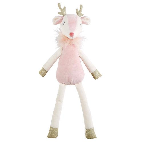 La petite surprise Couture Kuscheltier rosa Rentier 53 cm