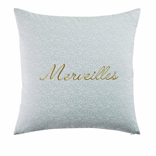 La petite surprise Couture - Merveilles - Baumwollkissen mint 40x40 cm