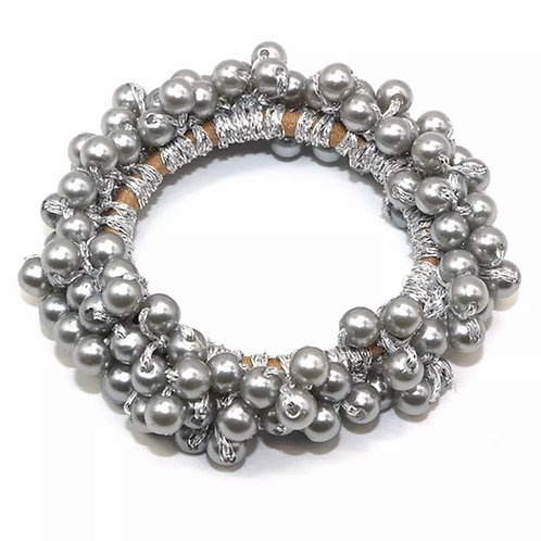 La petite surprise Couture Perlen Haargummi / Armband Silber