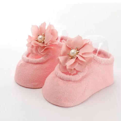 La petite surprise Couture - 1 Paar Baby Socken Rosa Gr.0-12 Monate