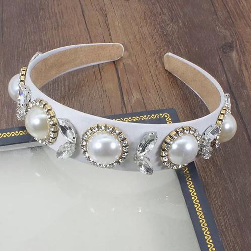 La petite surprise Couture Haarreifen Weiß