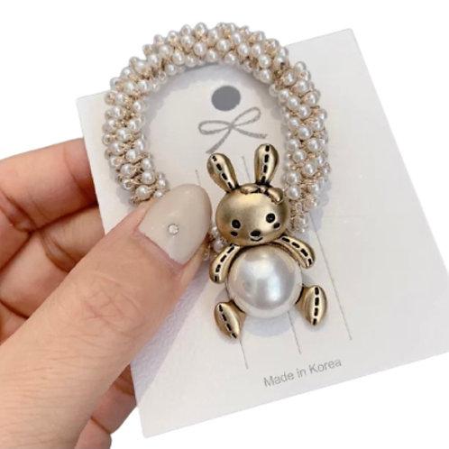 La petite surprise Couture Haargummi Perlen Bunny