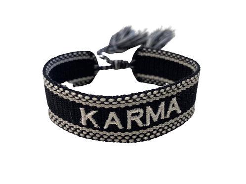 """La petite surprise Couture Canvas Armband """"Karma"""" Schwarz-Weiß"""