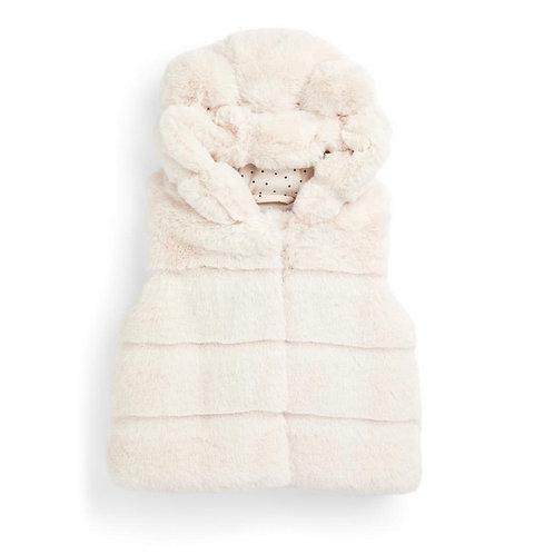 La petite surprise Couture Baby Fell Kapuzenweste Ivory