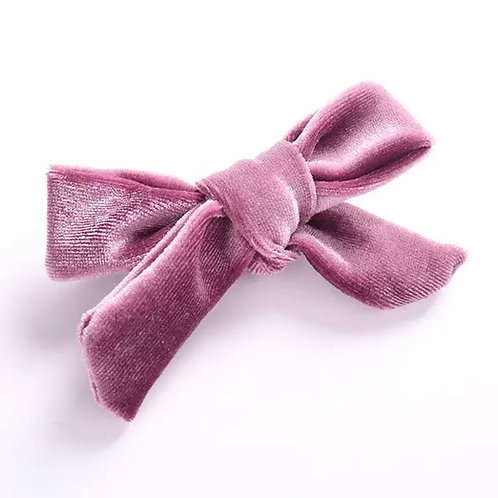 La petite surprise Couture Haarspange Samtschleife Altrosa