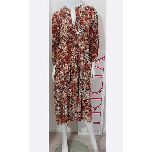 Tricia - Kleid Lucia Paisley Design Rost