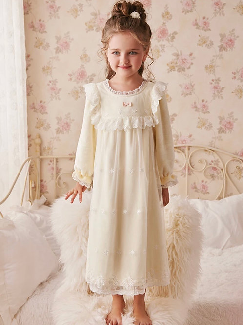 La petite surprise Couture Nachthemd Claudine Vanille