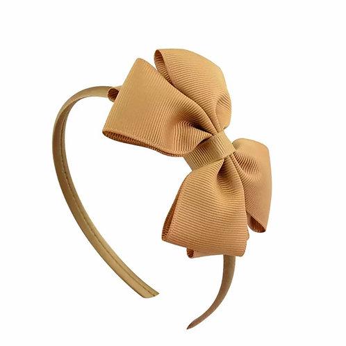 La petite surprise Couture Haarreifen Schleife Caramel