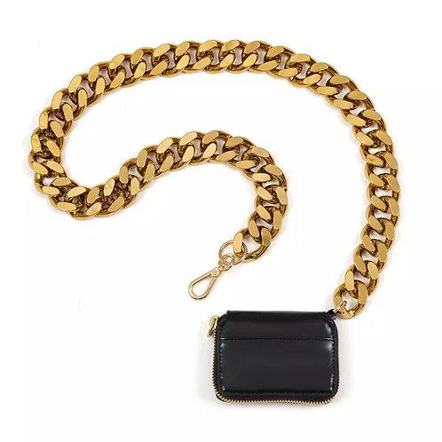 La petite surprise Couture Crossbody Täschchen Schwarz-Gold