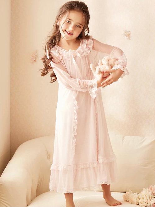 La petite surprise Couture Nachthemd Cecile Rosa